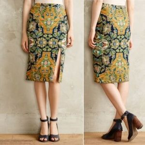 Anthropologie Maeve Petite L Tapestry Skirt